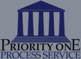 Priority One Process Service Logo